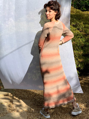 Peach Linear Ombré Dress
