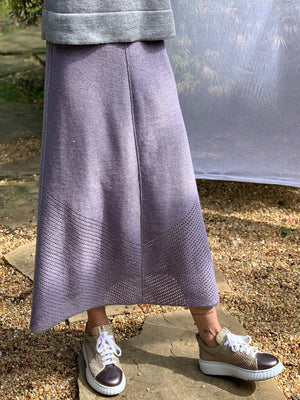 Metallic Reversible Pointelle Skirt