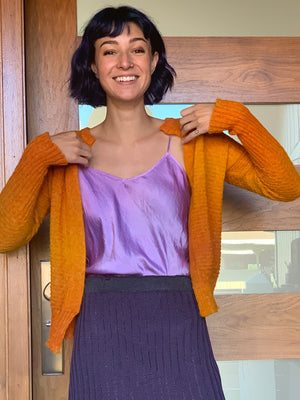 Short Sweetheart Cardy - Sunset