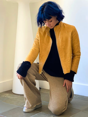 Mustard yellow jacket made in California -One of a kind