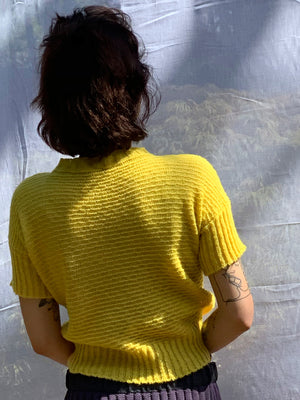 Sweetheart Top Yellow