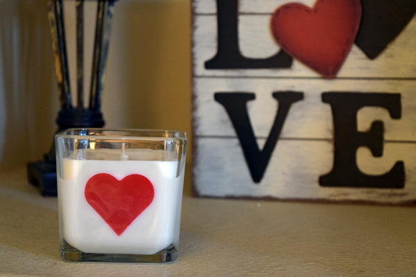 Heart Silhouette Soy Candle