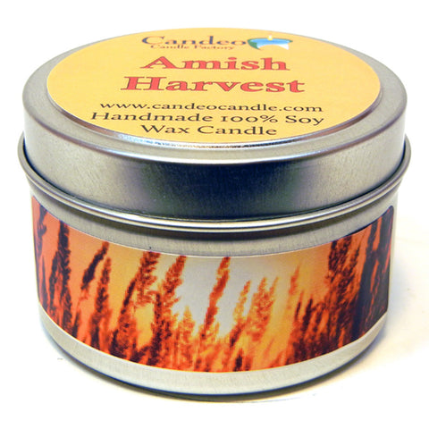 Amish Harvest, 4oz Soy Candle Tin - Candeo Candle - 1