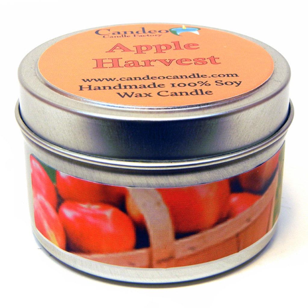 Apple Harvest, 4oz Soy Candle Tin - Candeo Candle - 1