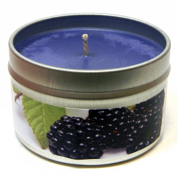 Blackberry Sage, 4oz Soy Candle Tin - Candeo Candle - 2