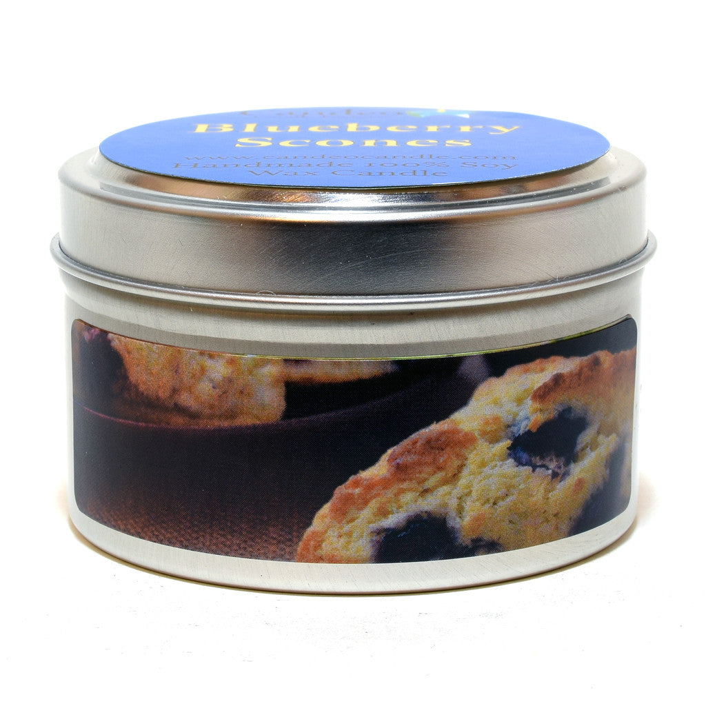 Blueberry Scones, 4oz Soy Candle Tin - Candeo Candle