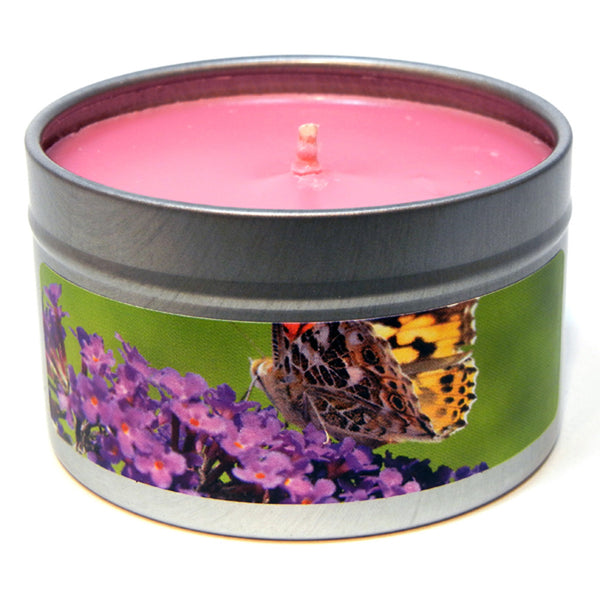 Butterfly Bush, 4oz Soy Candle Tin - Candeo Candle - 2