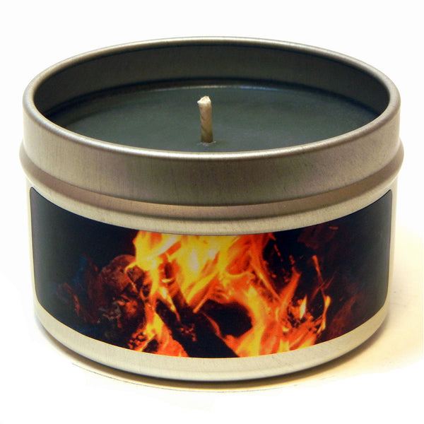 Campfire Smoke, 4oz Soy Candle Tin - Candeo Candle - 2
