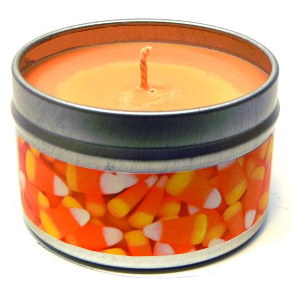 Candy Corn, 4oz Soy Candle Tin - Candeo Candle - 2