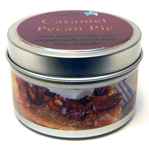 Caramel Pecan Pie, 4oz Soy Candle Tin - Candeo Candle - 1