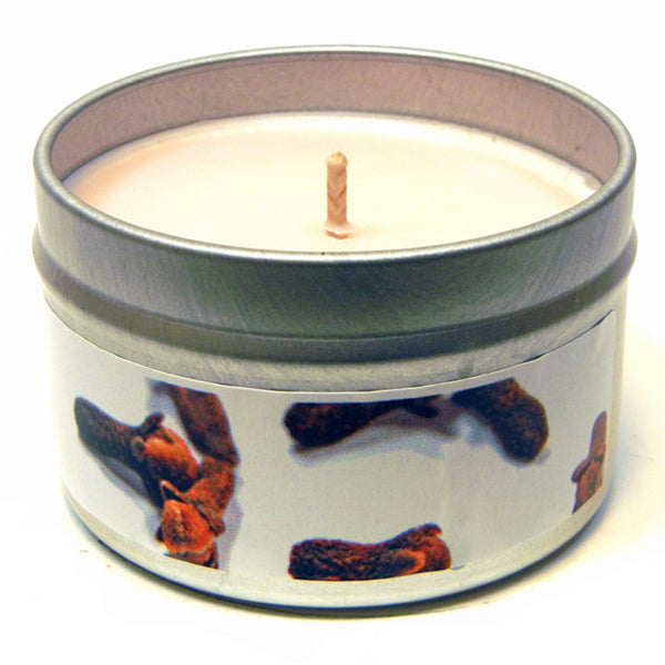 Clove Bud Essential Oil, 4oz Soy Candle Tin - Candeo Candle - 2