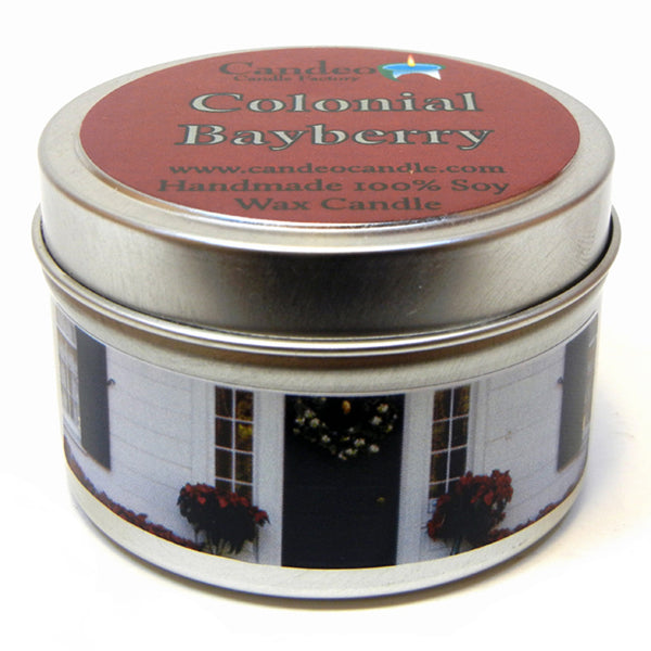 Colonial Bayberry, 4oz Soy Candle Tin - Candeo Candle - 1