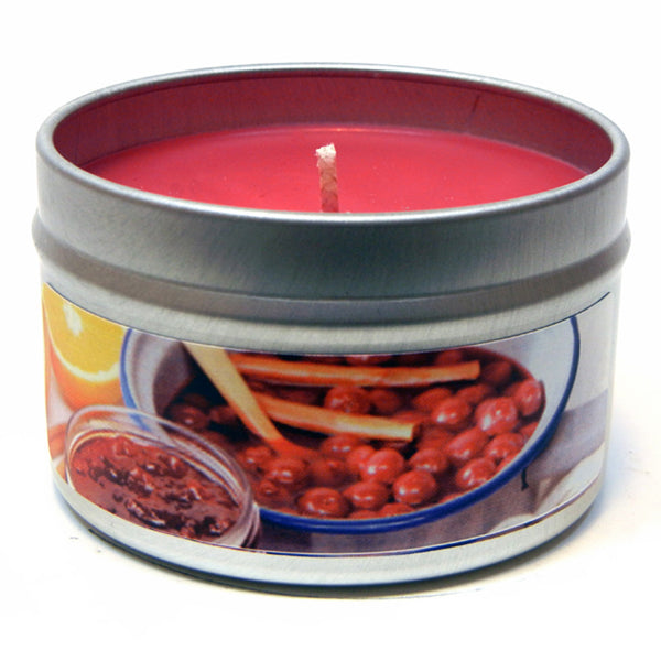 Cranberry Orange Marmalade, 4oz Soy Candle Tin - Candeo Candle - 2