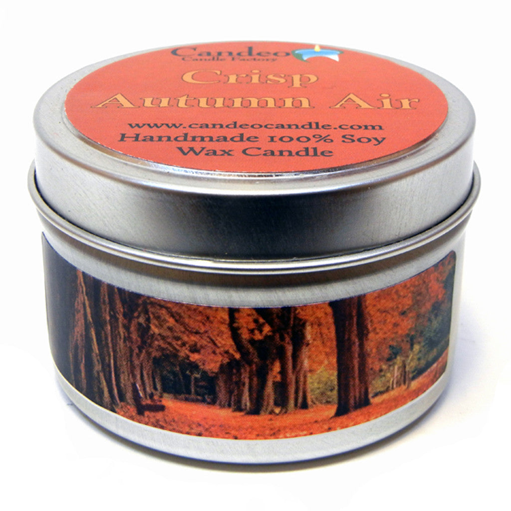 Crisp Autumn Air, 4oz Soy Candle Tin - Candeo Candle - 1