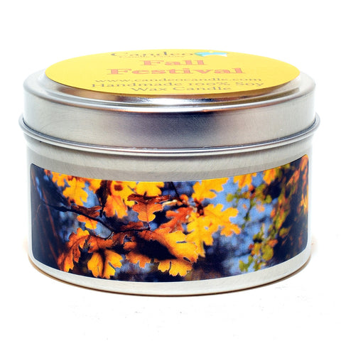 Fall Festival, 4oz Soy Candle Tin - Candeo Candle