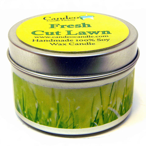 Fresh Cut Lawn, 4oz Soy Candle Tin - Candeo Candle - 1