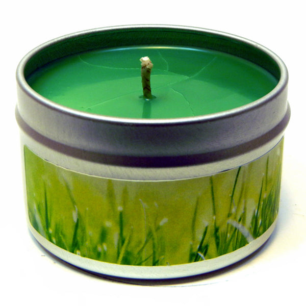 Fresh Cut Lawn, 4oz Soy Candle Tin - Candeo Candle - 2