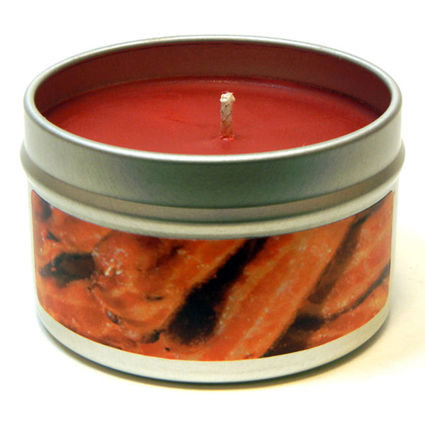 Hickory Smoked Bacon, 4oz Soy Candle Tin - Candeo Candle - 2