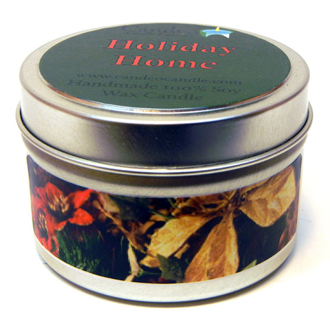 Holiday Home, 4oz Soy Candle Tin - Candeo Candle - 1