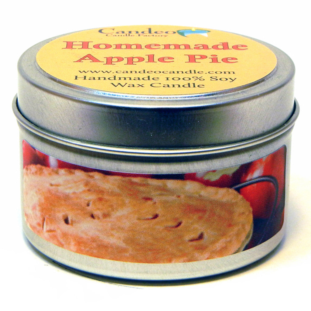 Homemade Apple Pie, 4oz Soy Candle Tin - Candeo Candle - 1