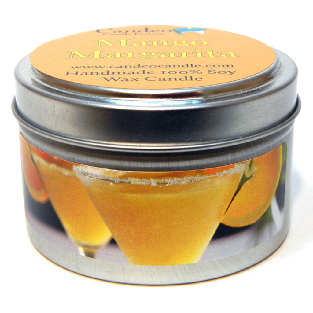 Mango Margarita, 4oz Soy Candle Tin - Candeo Candle - 1