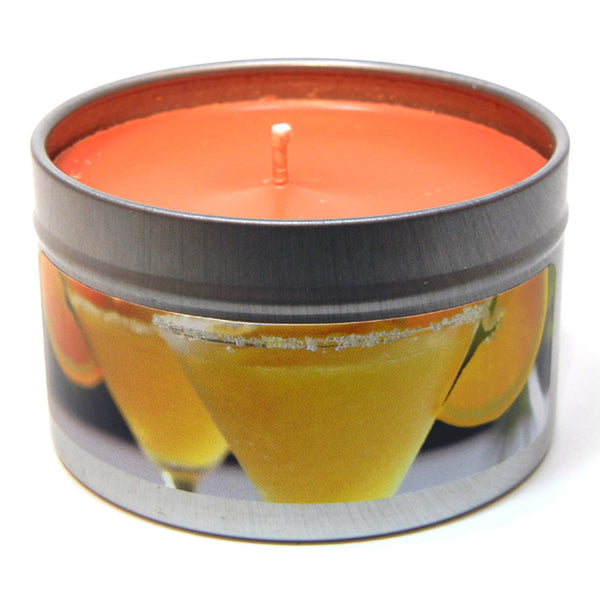 Mango Margarita, 4oz Soy Candle Tin - Candeo Candle - 2