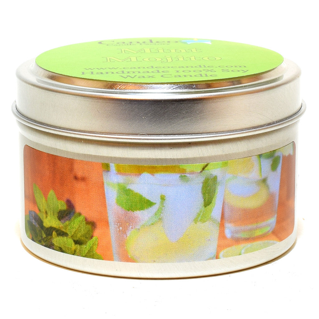 Mint Mojito, 4oz Soy Candle Tin - Candeo Candle