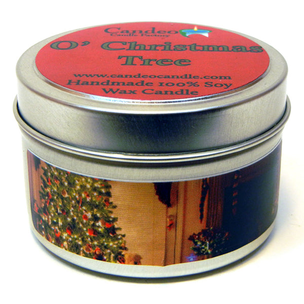 O' Christmas Tree, 4oz Soy Candle Tin - Candeo Candle