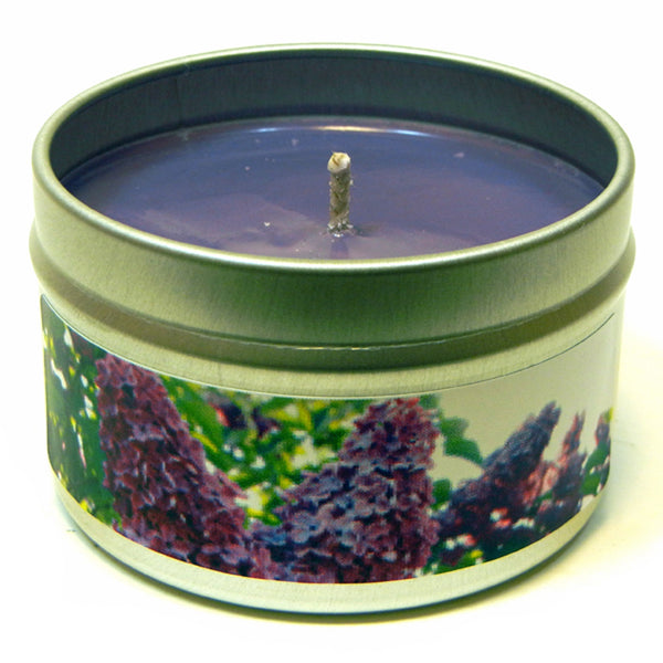 Old-Fashioned Lilac, 4oz Soy Candle Tin - Candeo Candle - 2
