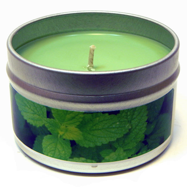 Peppermint Eucalyptus, 4oz Soy Candle Tin - Candeo Candle - 2