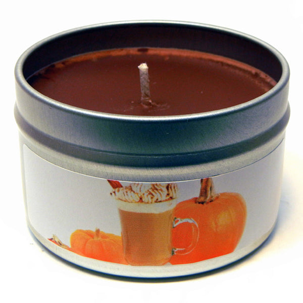 Pumpkin Spice Latte, 4oz Soy Candle Tin - Candeo Candle - 2