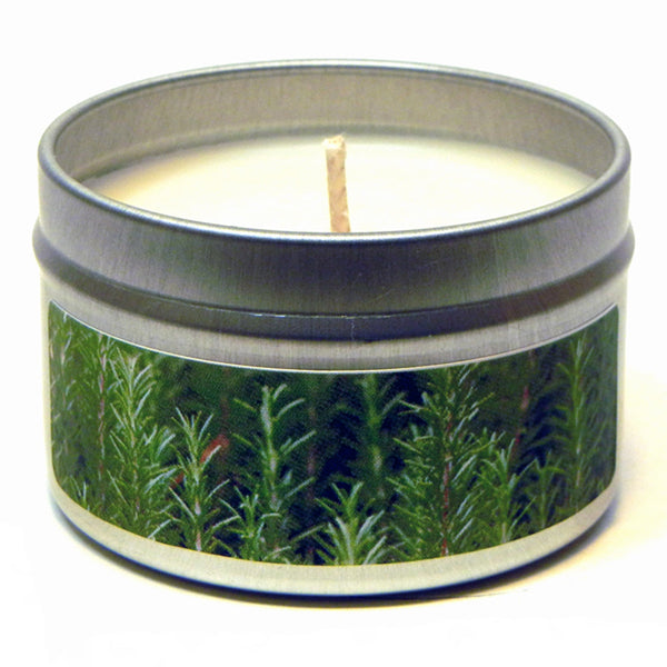 Rosemary Mint Essential Oil, 4oz Soy Candle Tin - Candeo Candle - 2