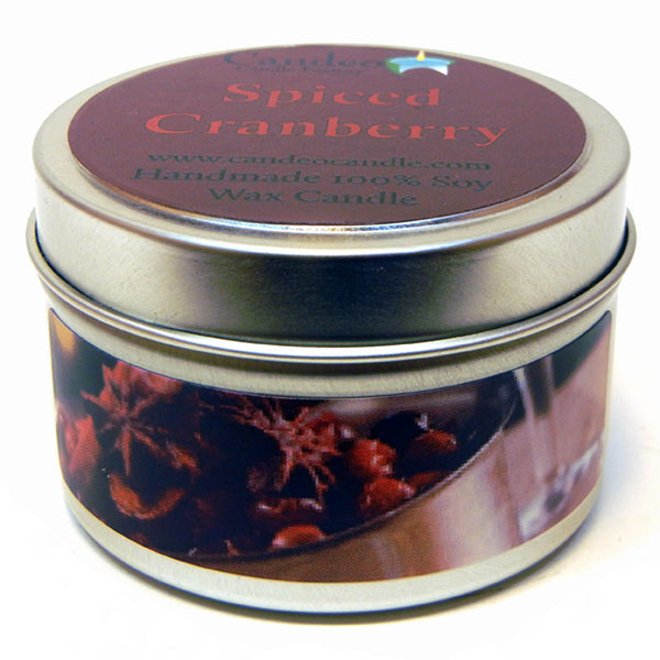 Spiced Cranberry, 4oz Soy Candle Tin - Candeo Candle - 1
