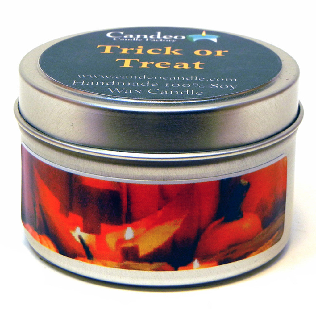 Trick or Treat, 4oz Soy Candle Tin - Candeo Candle - 1