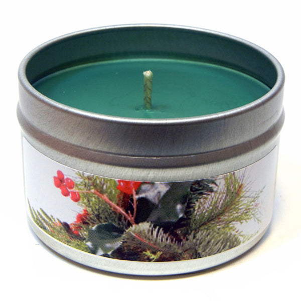 Under the Mistletoe, 4oz Soy Candle Tin - Candeo Candle - 2