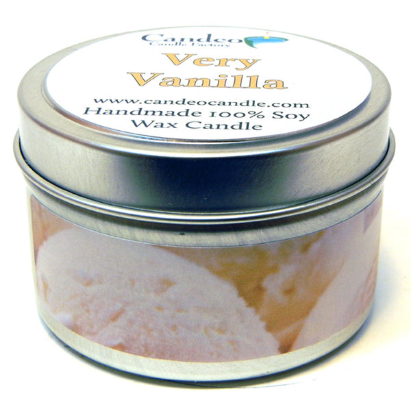 Very Vanilla, 4oz Soy Candle Tin - Candeo Candle - 1