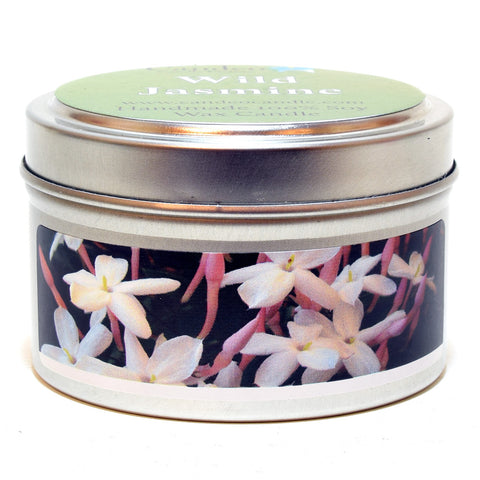 Wild Jasmine, 4oz Soy Candle Tin - Candeo Candle