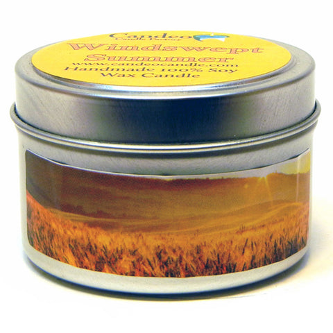 Windswept Summer, 4oz Soy Candle Tin - Candeo Candle