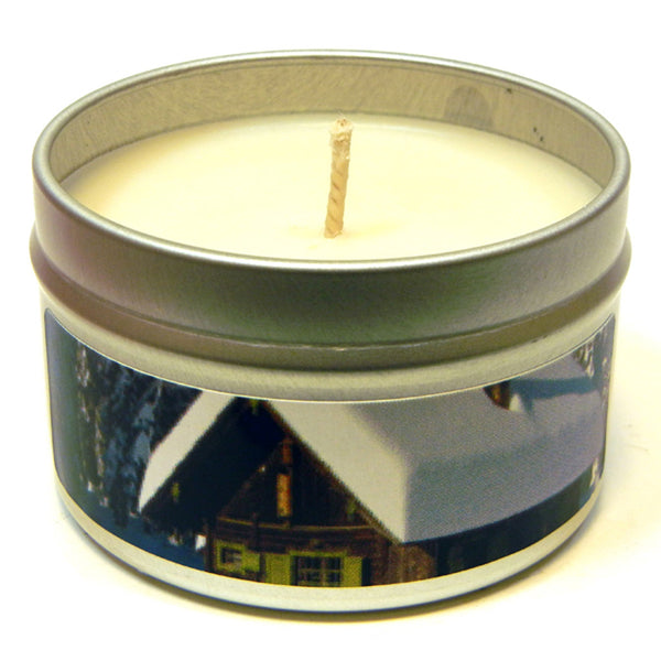 Winter Lodge, 4oz Soy Candle Tin - Candeo Candle - 2