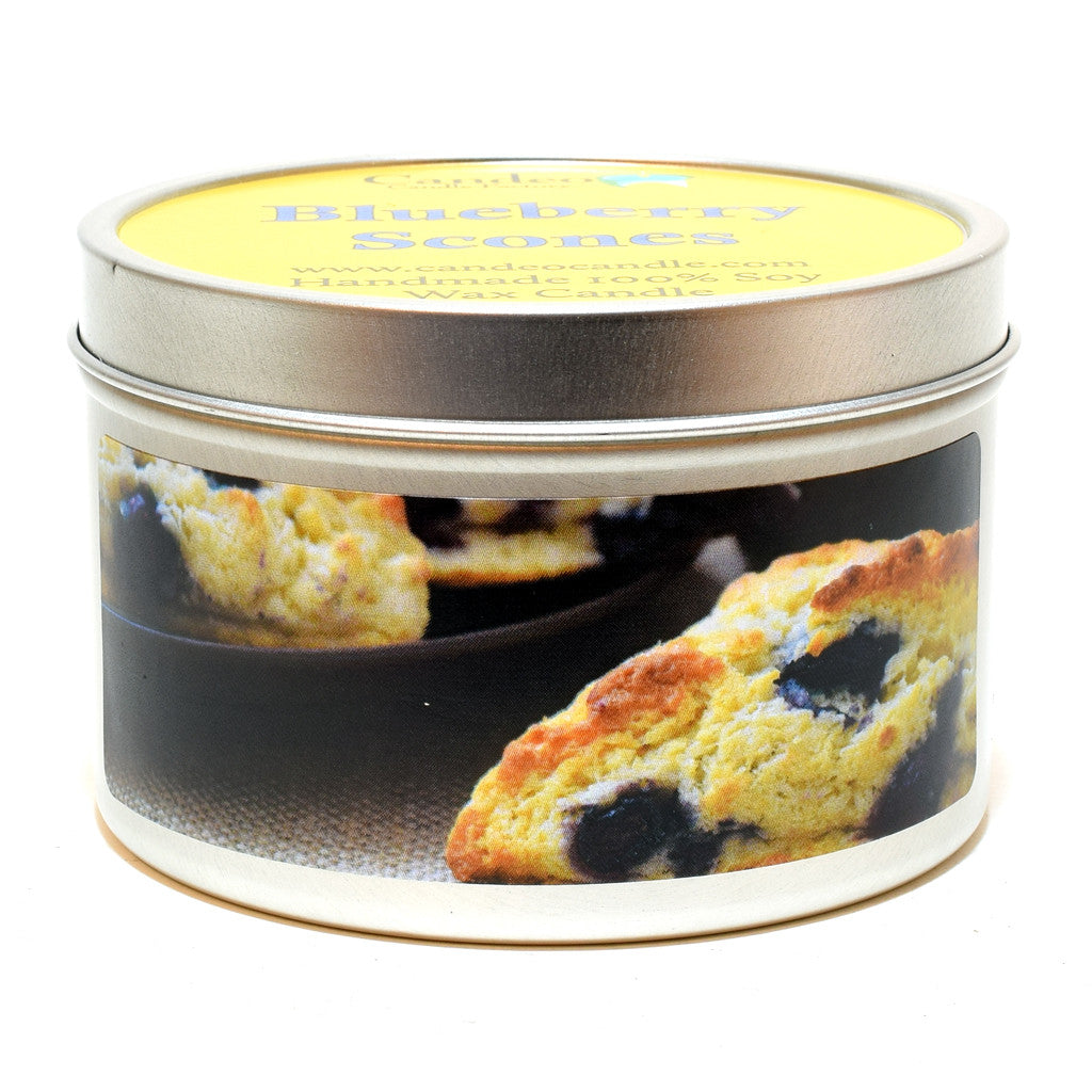 Blueberry Scones, 6oz Soy Candle Tin - Candeo Candle