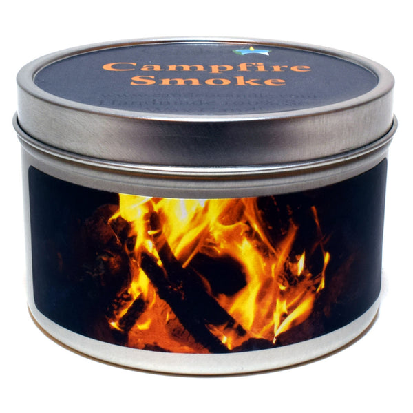 Campfire Smoke, 6oz Soy Candle Tin - Candeo Candle - 1