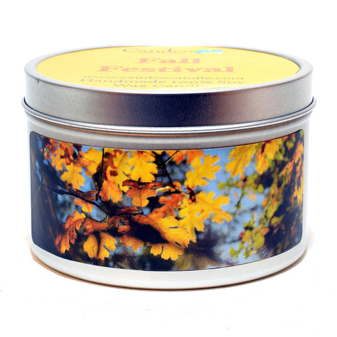 Fall Festival, 6oz Soy Candle Tin - Candeo Candle