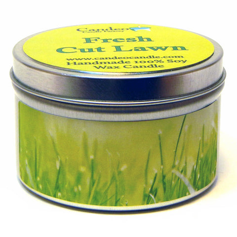 Fresh Cut Lawn, 6oz Soy Candle Tin - Candeo Candle