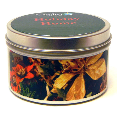 Holiday Home, 6oz Soy Candle Tin - Candeo Candle