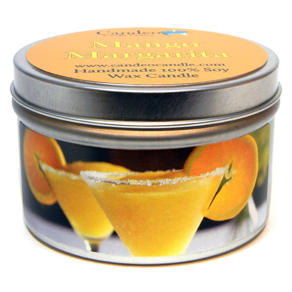 Mango Margarita, 6oz Soy Candle Tin - Candeo Candle
