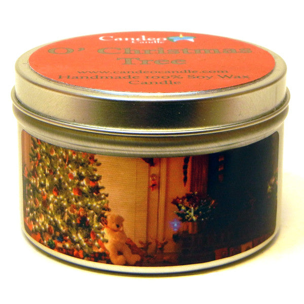 O' Christmas Tree, 6oz Soy Candle Tin - Candeo Candle