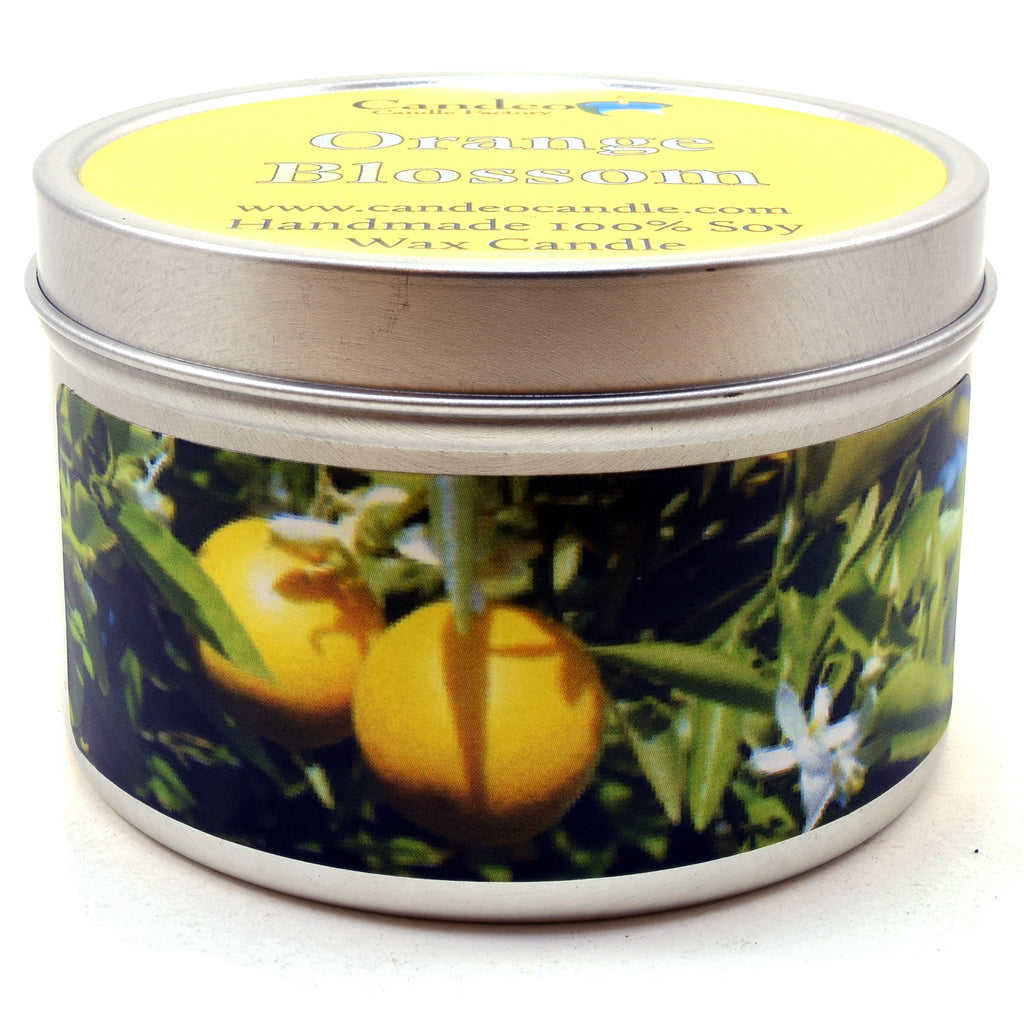 Orange Blossom, 6oz Soy Candle Tin