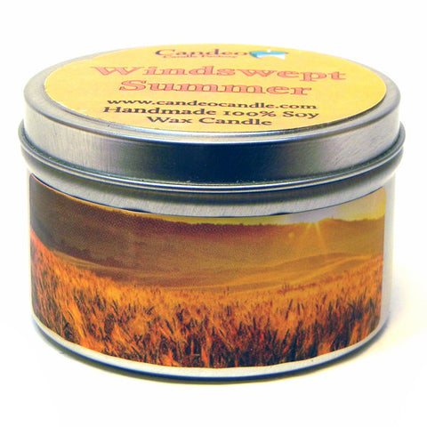 Windswept Summer, 6oz Soy Candle Tin - Candeo Candle