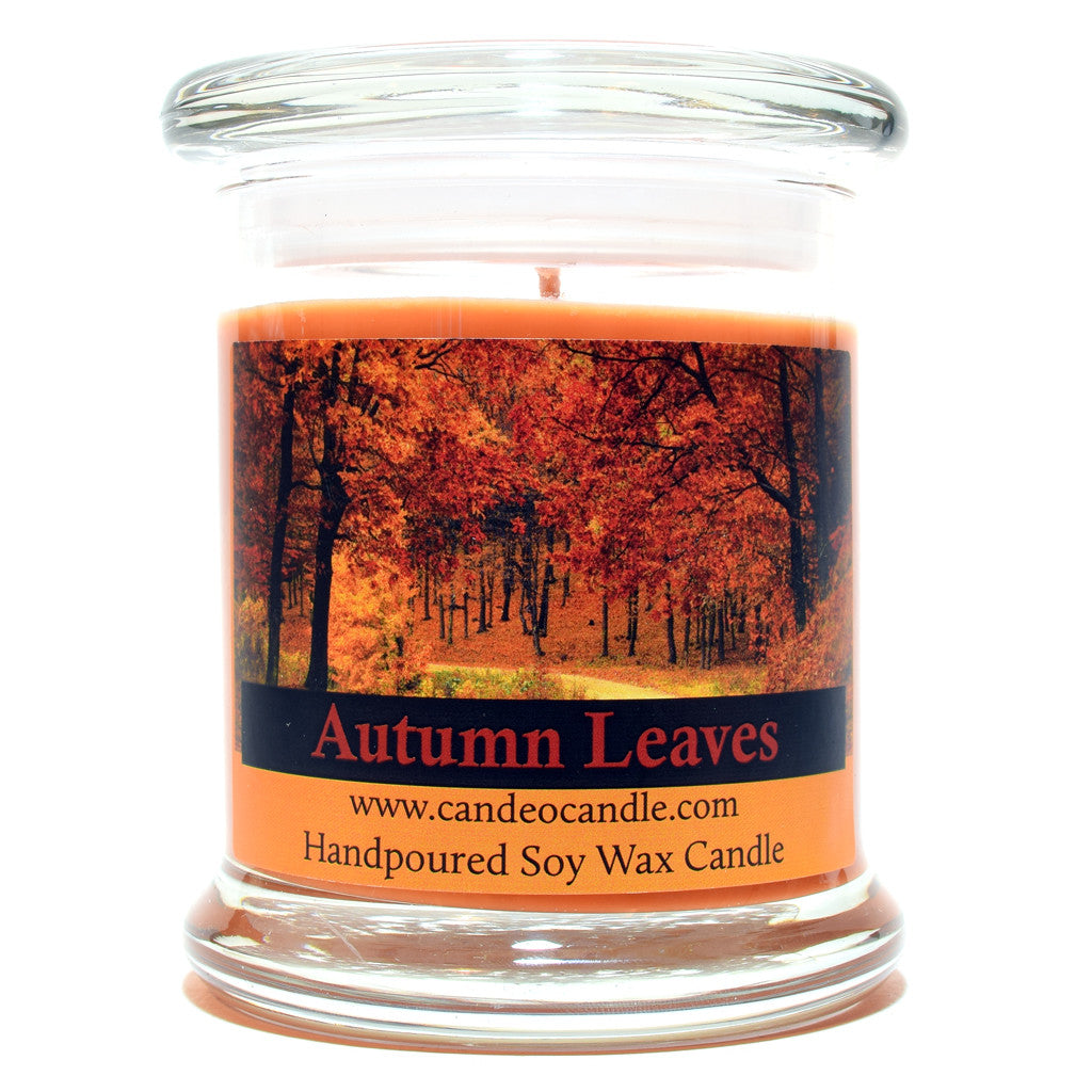 Autumn Leaves, 9oz Soy Candle Jar - Candeo Candle