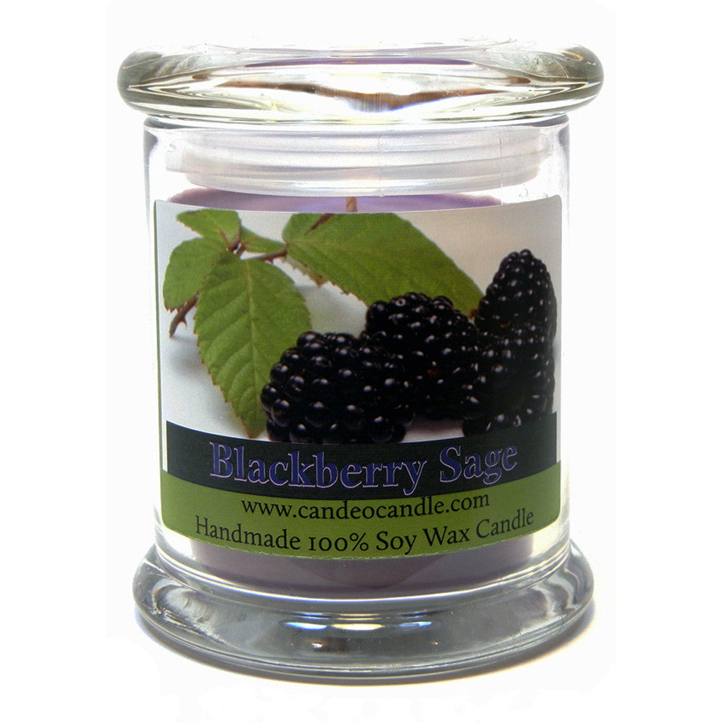 Blackberry Sage, 9oz Soy Candle Jar - Candeo Candle